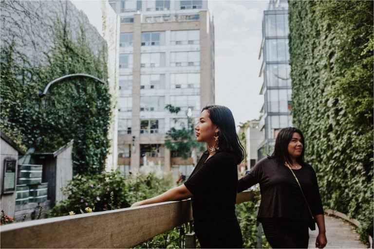 Finding green in the city. Erica Violet Lee and Jenn Harper by sweetmoon photography